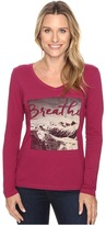 Life is Good Breathe Mountain Photo Long Sleeve Pocket Tee