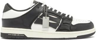 Amiri Skel Top Leather Trainers - Black White
