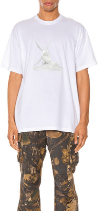 Burberry Wallace Tee in White | FWRD