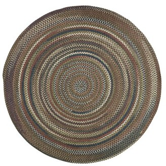 Charlton Home Kipton Geometric Braided Gray Area Rug Rug Size: Round 10'