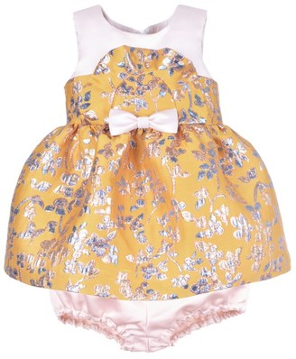 Hucklebones London Metallic Floral Dress And Bloomers Set (3-18 Months)