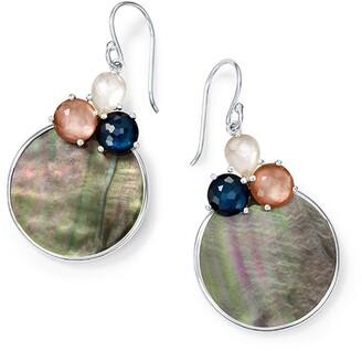 Ippolita Sterling Silver Wonderland Overlapping Shell 3-Stone Earrings