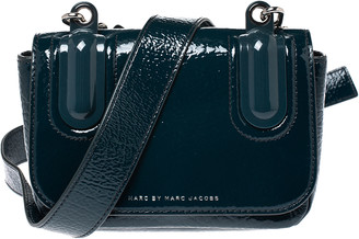 Marc by Marc Jacobs Dark Green Patent Leather Shoulder Bag