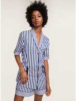 Tommy Hilfiger Striped Short Sleeve Crest Pajama Shirt
