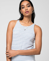 Le Château Stripe Jersey Scoop Neck Tank