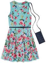 Knitworks Knit Works Belted Floral Dress - Girls' 7-16