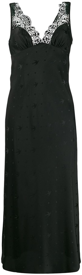 McQ long sparrow print dress