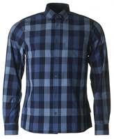 Aquascutum Luke Indigo Check Long Sleeved Shirt