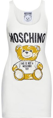 Moschino Appliqued Cotton-blend Jersey Mini Dress