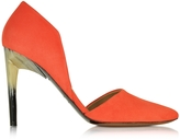 Proenza Schouler Orange Suede Pump