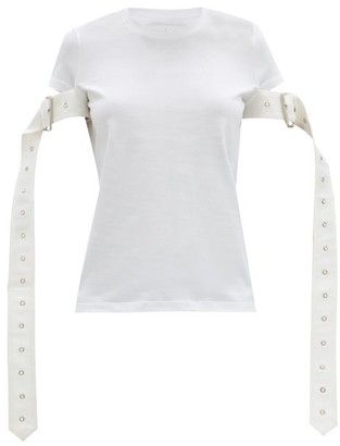 Marques Almeida Belt-sleeve Cotton-jersey T-shirt - White