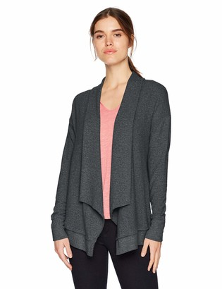 Michael Stars Women's Madison Brushed Jersey Long Sleeve Open Front Cardigan