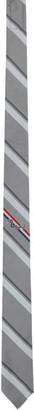Thom Browne Grey Silk Stripe Snake Tie