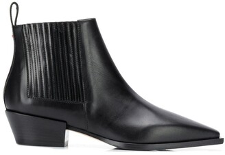 AEYDĒ Pointed Toe Ankle Boots