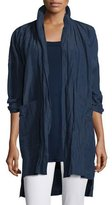 Eileen Fisher Rumpled Kimono Coat, Midnight