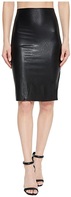 61924fbd74 Black Faux Leather Pencil Skirt - ShopStyle