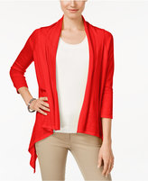 Cable & Gauge Open-Front Cardigan
