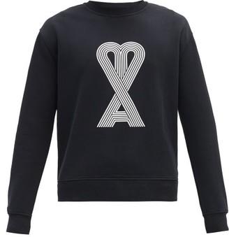 Ami De Coeur-print Cotton Sweatshirt - Black