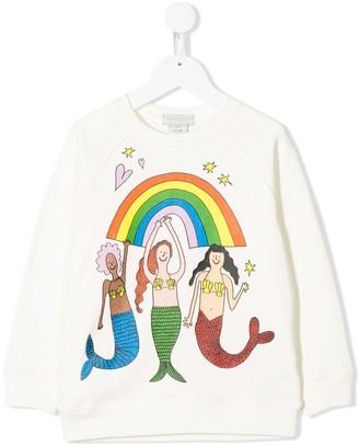 Stella McCartney TEEN Mermais print sweatshirt