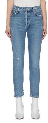 AGOLDE 'Nico' frayed slim fit jeans