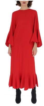 Valentino Scalloped Hem Maxi Dress