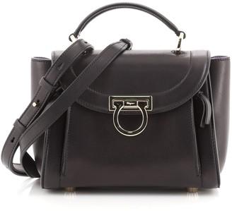 Salvatore Ferragamo Sofia Rainbow Saddle Bag Leather Mini
