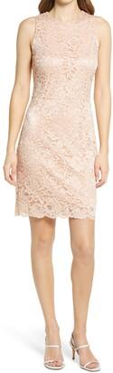 Bow Back Lace Sheath Dress