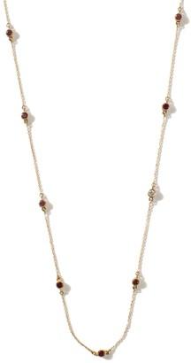 Hania Kuzbari Jewelry Designs Freestyle Necklace With Pink Round Tourmaline & Diamond