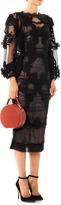 Dolce & Gabbana Flower embroidered balloon-sleeve dress