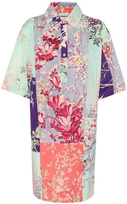Etro Floral cotton shirt dress