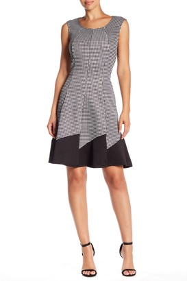 Just For Wraps Houndstooth Fit & Flare Dress