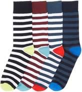 Jack and Jones Men's 4PK Jacblock ankle sock