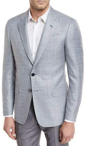 Giorgio Armani Plaid Viscose Sport Coat