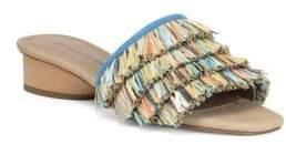 Donald J Pliner Reise Multi-Color Fringe Heeled Sandals