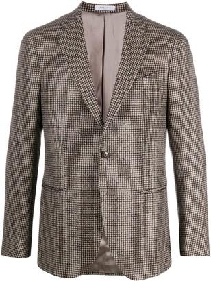 Boglioli Milano houndstooth pattern blazer