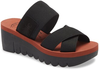 Fly London Yabo Platform Slide Sandal