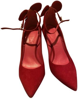 N. Oscar Tiye \N Red Suede Heels