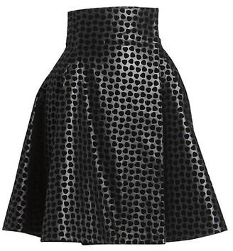 Alaia Dalmation Leather Wrap Skirt