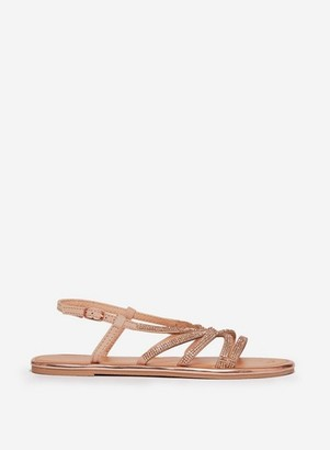 Dorothy Perkins Womens Wide Fit Rose Gold 'Figaro' Sandals, Rose Gold