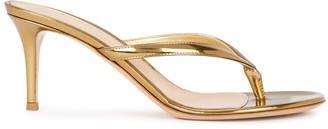 Gianvito Rossi Calypso 70 gold leather sandals
