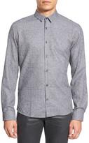 HUGO BOSS 'Broken Checks' Slim Fit Long Sleeve Sport Shirt