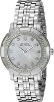 Bulova Women's 63R138 Pemberton Analog Display Swiss Quartz Silver Watch
