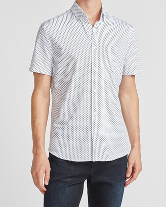 Express Diamond Print Short Sleeve Shirt