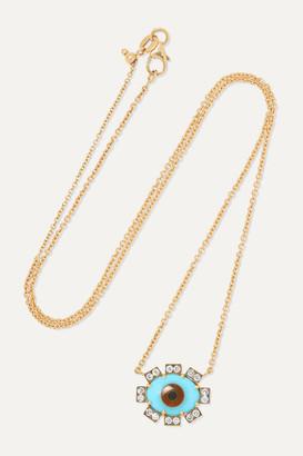 Sylva & Cie 18-karat Gold Multi-stone Necklace