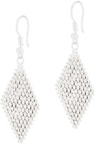 Imperial Silver Ultra Lame' Marquise Shaped Drop Earrings, Sterling Silver