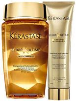 Kérastase Elixir Ultime Huile Lavante Bain (250ml) and Creme Fine (150ml) Duo Bundle