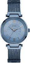 GUESS Women's Sky Blue Ion-Plated Stainless Steel Bracelet Watch 36mm U0638L3