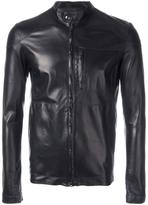 Salvatore Santoro - zipped leather jacket - men - Sheep Skin/Shearling - 46