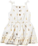 Carter's Poplin Dress (Baby) - Ivory - 9 Months