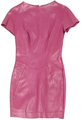 Saint Laurent Pink Leather Dresses